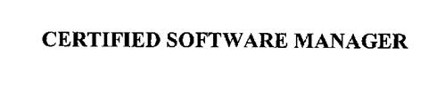 CERTIFIED SOFTWARE MANAGER