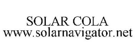 SOLAR COLA WWW.SOLARNAVIGATOR.NET
