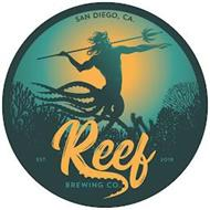 SAN DIEGO, CA. REEF BREWING CO. EST. 2018