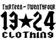 THIRTEEN TWENTYFOUR CLOTHING 13 24