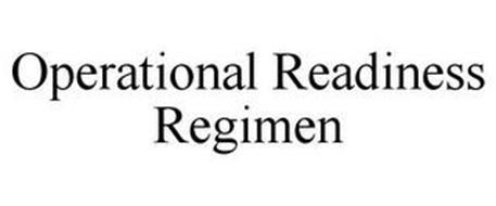 OPERATIONAL READINESS REGIMEN