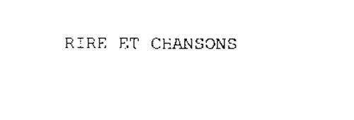 RIRE ET CHANSONS