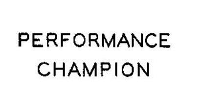 PERFORMANCE CHAMPION