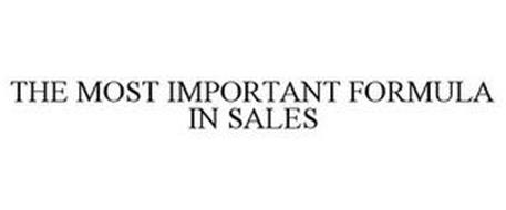 THE MOST IMPORTANT FORMULA IN SALES