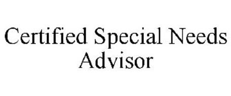 CERTIFIED SPECIAL NEEDS ADVISOR