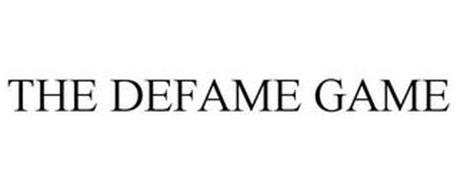 THE DEFAME GAME