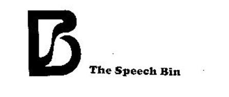 B THE SPEECH BIN