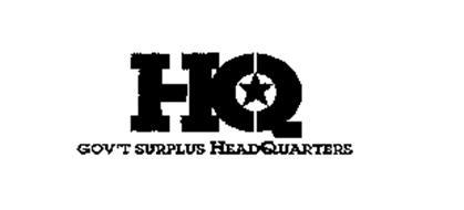 HQ GOV'T SURPLUS HEADQUARTERS