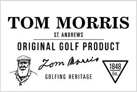 TOM MORRIS ST ANDREWS ORIGINAL GOLF PRODUCT TOM MORRIS GOLFING HERITAGE 1848 EST.