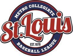 ST. LOUIS METRO COLLEGIATE BASEBALL LEAGUE EST. 1979