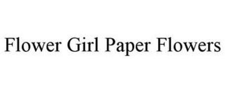FLOWER GIRL PAPER FLOWERS