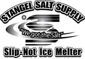 """S STANGEL SALT SUPPLY """"WE GOT THE SALT"""" SLIP-NOT ICE MELTER"""