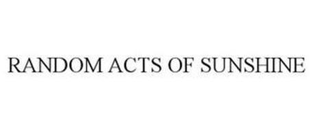 RANDOM ACTS OF SUNSHINE