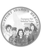 SUPPORT IDAHO'S HEROES ONE TROY OUNCE .999 FINE SILVER COURAGEOUS PAST UNLIMITED FUTURE 2020