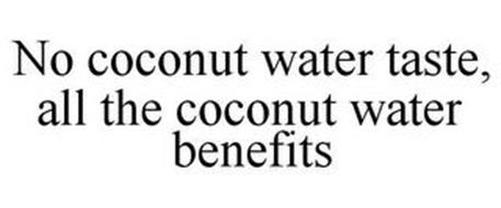 NO COCONUT WATER TASTE, ALL THE COCONUT WATER BENEFITS