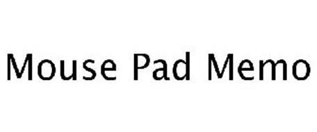 MOUSE PAD MEMO