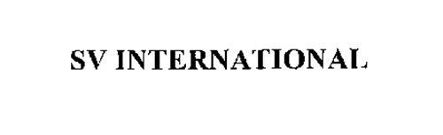 SV INTERNATIONAL