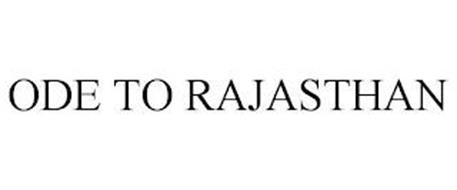 ODE TO RAJASTHAN