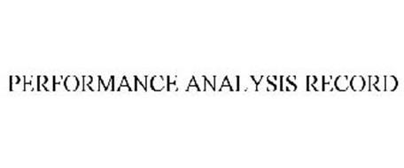PERFORMANCE ANALYSIS RECORD