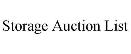 STORAGE AUCTION LIST