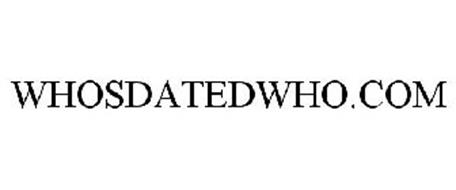 WHO'S DATED WHO ? .COM