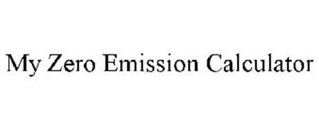 MY ZERO EMISSION CALCULATOR