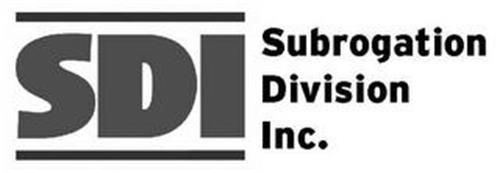 SDI SUBROGATION DIVISION INC.