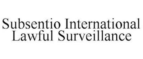 SUBSENTIO INTERNATIONAL LAWFUL SURVEILLANCE