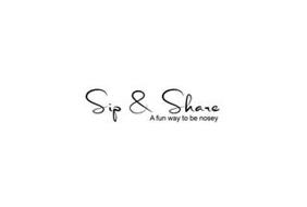 SIP & SHARE A FUN WAY TO BE NOSEY