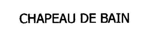 CHAPEAU DE BAIN