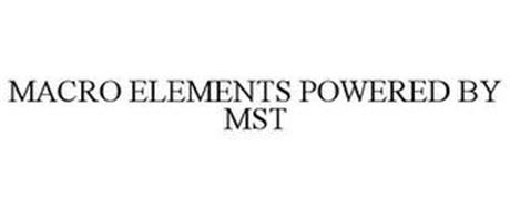 MACRO ELEMENTS POWERED BY MST