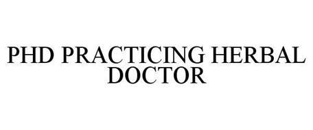 PHD PRACTICING HERBAL DOCTOR