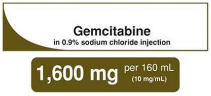 GEMCITABINE IN 0.9% SODIUM CHLORIDE INJECTION 1,600 MG PER 160 ML (10 MG/ML)