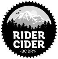 RIDER CIDER · BC DRY ·