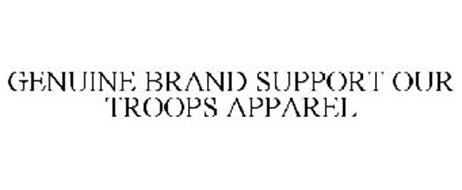 GENUINE BRAND SUPPORT OUR TROOPS APPAREL