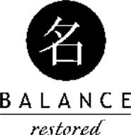 BALANCE RESTORED