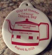 CITY OF CHESTER 1 ST ANNUAL TEAPOT DAY WORLD'S LARGEST TEAPOT,  CHESTER, WV