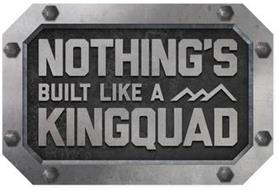 NOTHING'S BUILT LIKE A KINGQUAD