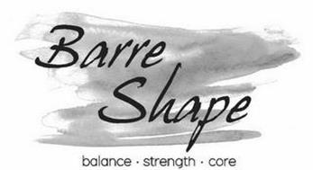 BARRE SHAPE BALANCE · STRENGTH · CORE