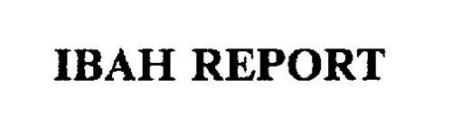 IBAH REPORT