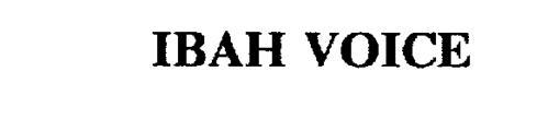 IBAH VOICE