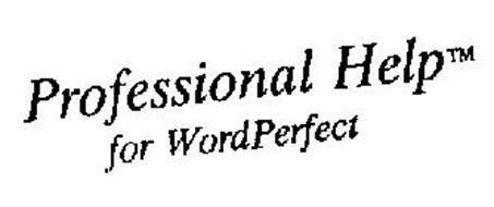 PROFESSIONAL HELP FOR WORDPERFECT