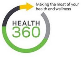HEALTH 360 MAKING THE MOST OF YOUR HEALTH AND WELLNESS