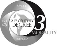 ONLINE FACE TO FACE BLENDED 3 MODALITY 21ST CENTURY DEGREE