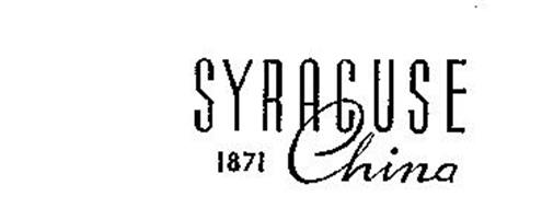 SYRACUSE CHINA 1871