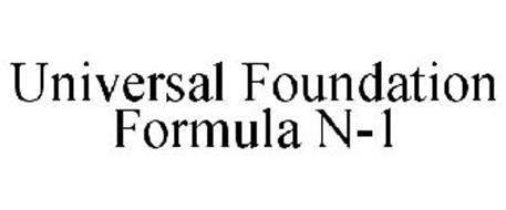 UNIVERSAL FOUNDATION FORMULA N-1