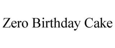 ZERO BIRTHDAY CAKE