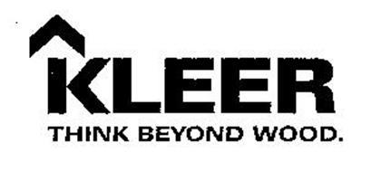 KLEER THINK BEYOND WOOD.