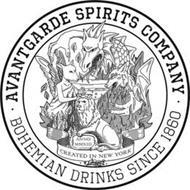 AVANTGARDE SPIRITS COMPANY BOHEMIAN DRINKS SINCE 1860