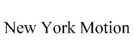 NEW YORK MOTION